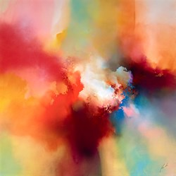 Of Eden by Simon Kenny -  sized 48x48 inches. Available from Whitewall Galleries